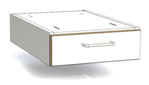 Hängande lådhurts 1 låda 400x600x135