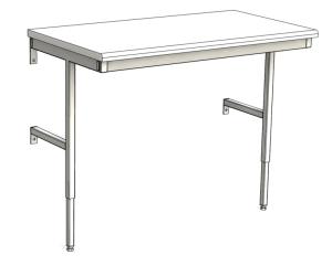 Väggfast arbetsbord justerbar höjd